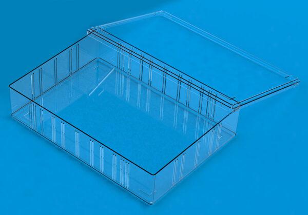 Opbevaringskasse transparent låg