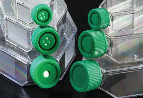 Celledyrkningsflasker låg med og uden filter