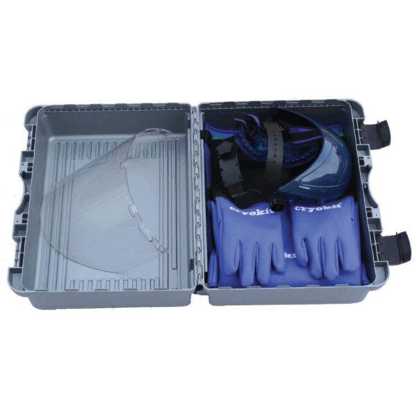 Cryobeskyttelseskit kuffert åben