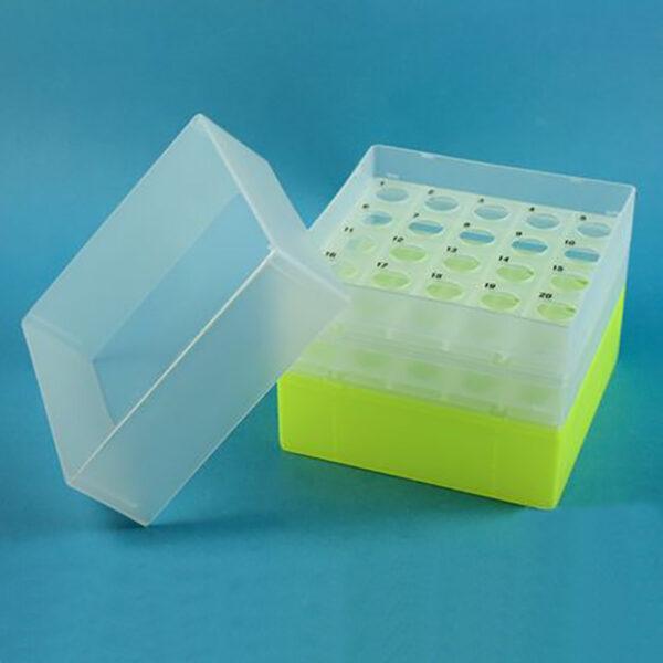 Boks til 15 ml centrifugerør gul