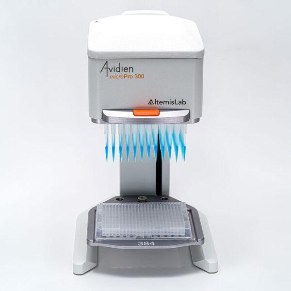 Pipetteringsapparatur Avidien microPro 300 med 384-plade